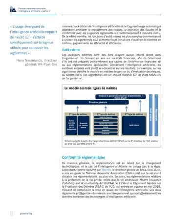 Perspectives internationales - Cadre de référence IIA pour l'audit de l'intelligence artificielle Partie A page 10