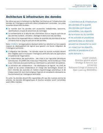Perspectives internationales - Cadre de référence IIA pour l'audit de l'intelligence artificielle Partie A page 13