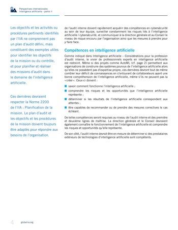 Perspectives internationales - Cadre de référence IIA pour l'audit de l'intelligence artificielle Partie A page 6