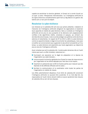 Perspectives Internationales - Intelligence artificielle : quelles considérations pour l'audit interne ? page 10