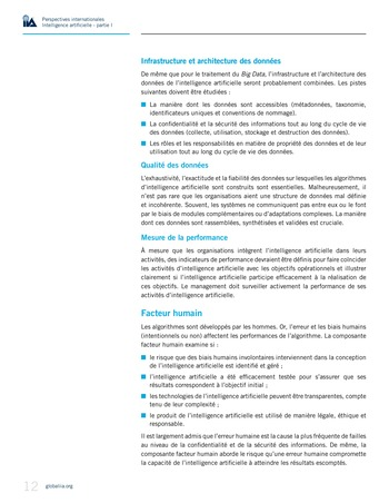Perspectives Internationales - Intelligence artificielle : quelles considérations pour l'audit interne ? page 12