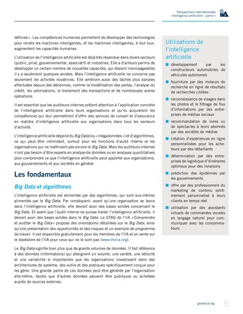 Perspectives Internationales - Intelligence artificielle : quelles considérations pour l'audit interne ? page 5