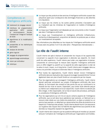 Perspectives Internationales - Intelligence artificielle : quelles considérations pour l'audit interne ? page 8