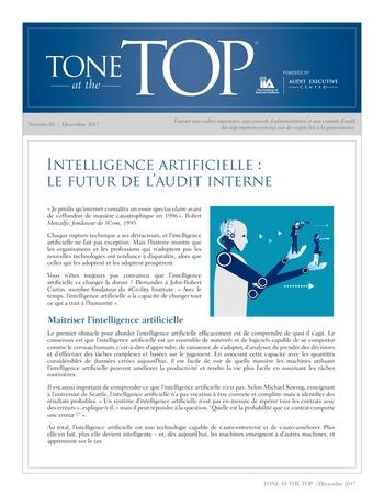 Tone at the top 85 - Intelligence artificielle : le futur de l'audit interne / dec 2017 page 1