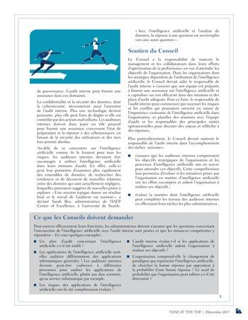 Tone at the top 85 - Intelligence artificielle : le futur de l'audit interne / dec 2017 page 3