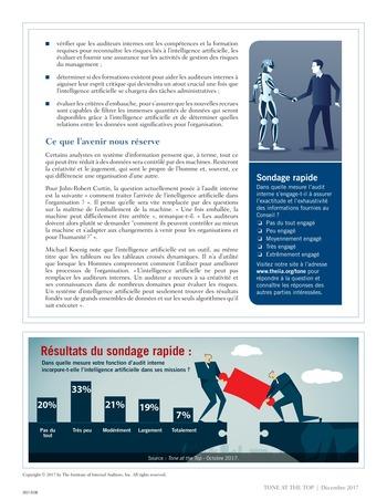 Tone at the top 85 - Intelligence artificielle : le futur de l'audit interne / dec 2017 page 4