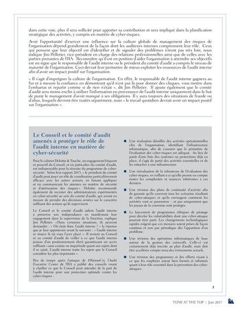 Tone at the top 82 - L'éclairage que l'audit interne apporte à la culture de la cyber-sécurité / juin 2017 page 3