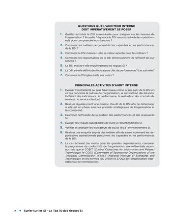 Surfer sur les SI - Le Top 10 des risques SI page 14