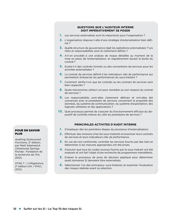 Surfer sur les SI - Le Top 10 des risques SI page 16