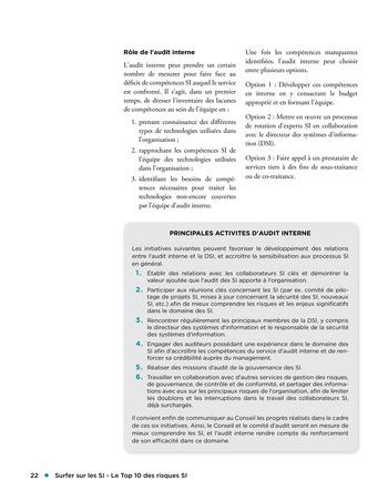 Surfer sur les SI - Le Top 10 des risques SI page 22