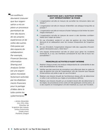 Surfer sur les SI - Le Top 10 des risques SI page 6