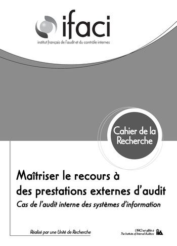 Maîtriser le recours à des prestations externes d'audit - cas de l'audit des SI page 1