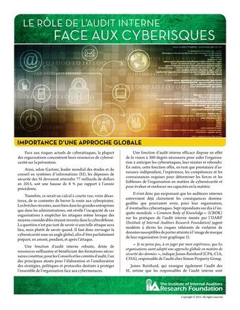 Le rôle de l'audit interne face aux cyber-risques - Importance d'une approche globale page 1