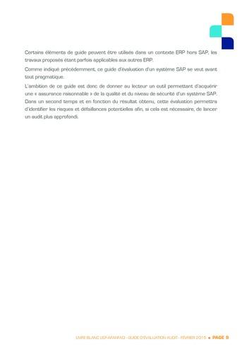 Guide d'évaluation d'un système SAP pour l'audit interne / AFAI, IFACI, USF page 10