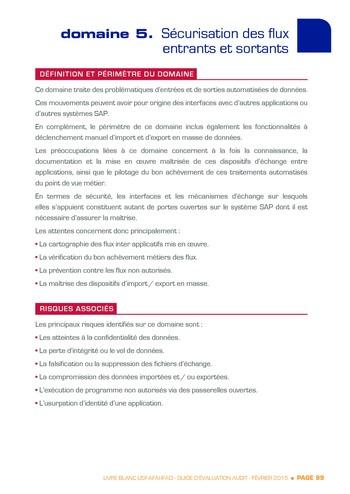 Guide d'évaluation d'un système SAP pour l'audit interne / AFAI, IFACI, USF page 100