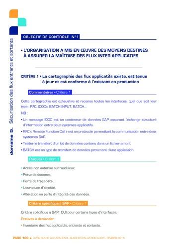 Guide d'évaluation d'un système SAP pour l'audit interne / AFAI, IFACI, USF page 101