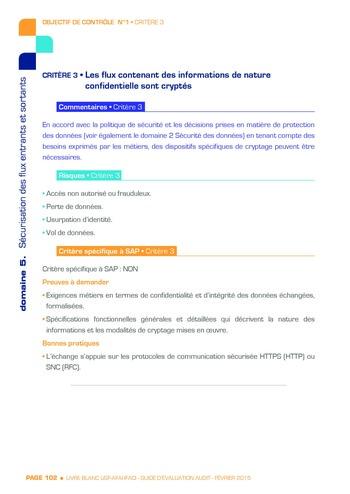 Guide d'évaluation d'un système SAP pour l'audit interne / AFAI, IFACI, USF page 103