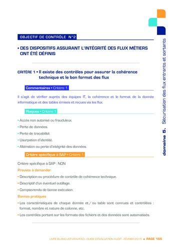 Guide d'évaluation d'un système SAP pour l'audit interne / AFAI, IFACI, USF page 106
