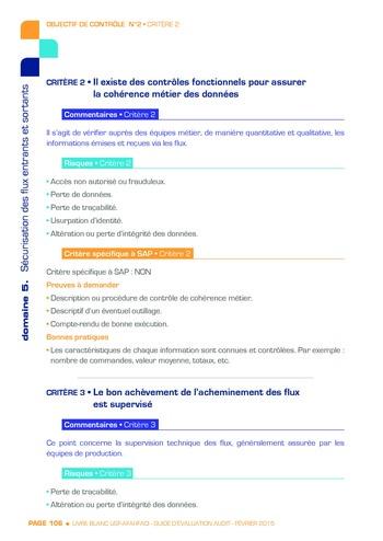 Guide d'évaluation d'un système SAP pour l'audit interne / AFAI, IFACI, USF page 107