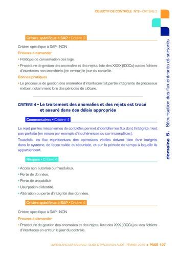Guide d'évaluation d'un système SAP pour l'audit interne / AFAI, IFACI, USF page 108