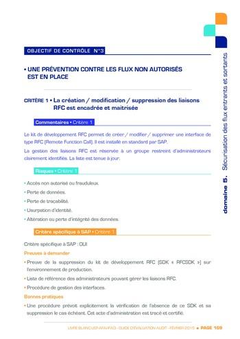 Guide d'évaluation d'un système SAP pour l'audit interne / AFAI, IFACI, USF page 110