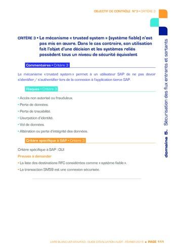 Guide d'évaluation d'un système SAP pour l'audit interne / AFAI, IFACI, USF page 112