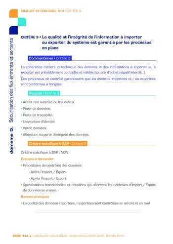 Guide d'évaluation d'un système SAP pour l'audit interne / AFAI, IFACI, USF page 115