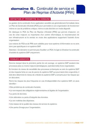 Guide d'évaluation d'un système SAP pour l'audit interne / AFAI, IFACI, USF page 118