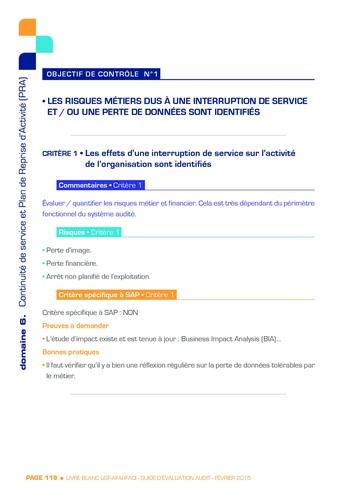 Guide d'évaluation d'un système SAP pour l'audit interne / AFAI, IFACI, USF page 119