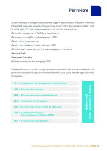 Guide d'évaluation d'un système SAP pour l'audit interne / AFAI, IFACI, USF page 12