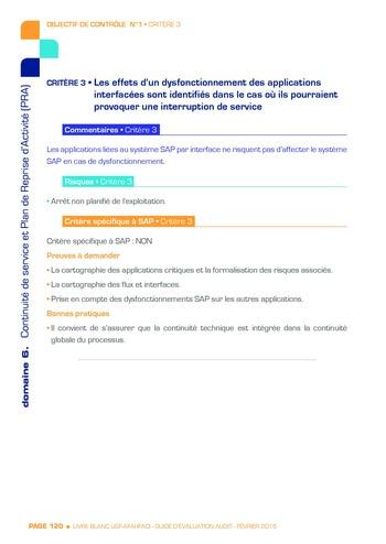 Guide d'évaluation d'un système SAP pour l'audit interne / AFAI, IFACI, USF page 121