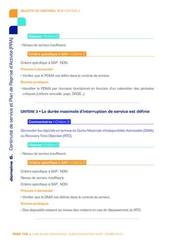 Guide d'évaluation d'un système SAP pour l'audit interne / AFAI, IFACI, USF page 123