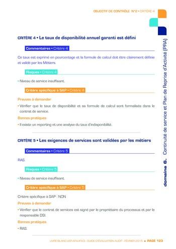 Guide d'évaluation d'un système SAP pour l'audit interne / AFAI, IFACI, USF page 124