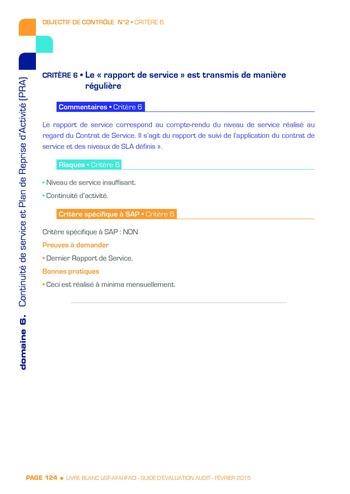 Guide d'évaluation d'un système SAP pour l'audit interne / AFAI, IFACI, USF page 125
