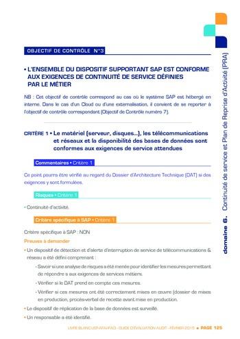 Guide d'évaluation d'un système SAP pour l'audit interne / AFAI, IFACI, USF page 126