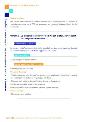 Guide d'évaluation d'un système SAP pour l'audit interne / AFAI, IFACI, USF page 127