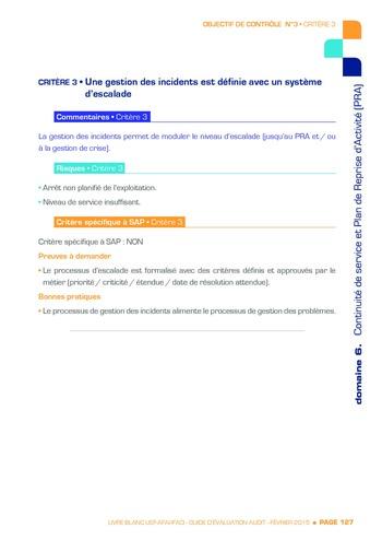 Guide d'évaluation d'un système SAP pour l'audit interne / AFAI, IFACI, USF page 128
