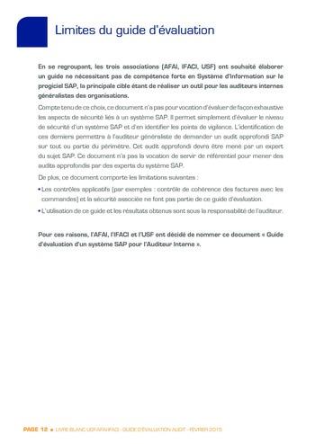 Guide d'évaluation d'un système SAP pour l'audit interne / AFAI, IFACI, USF page 13