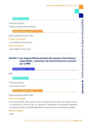 Guide d'évaluation d'un système SAP pour l'audit interne / AFAI, IFACI, USF page 130
