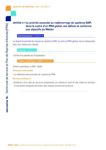 Guide d'évaluation d'un système SAP pour l'audit interne / AFAI, IFACI, USF page 131