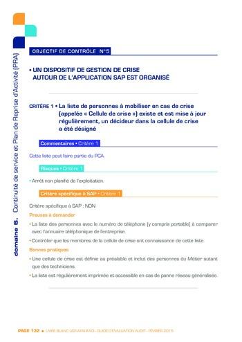 Guide d'évaluation d'un système SAP pour l'audit interne / AFAI, IFACI, USF page 133