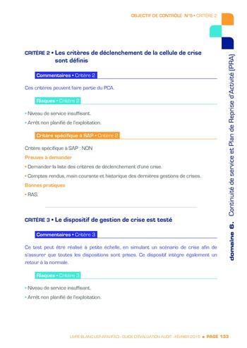 Guide d'évaluation d'un système SAP pour l'audit interne / AFAI, IFACI, USF page 134