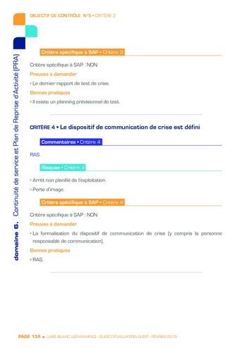 Guide d'évaluation d'un système SAP pour l'audit interne / AFAI, IFACI, USF page 135