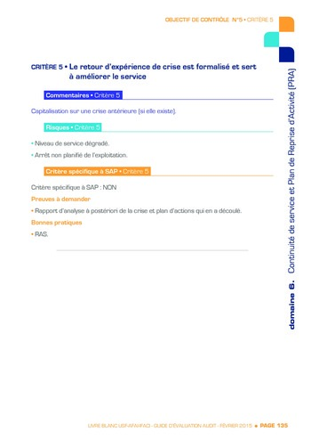Guide d'évaluation d'un système SAP pour l'audit interne / AFAI, IFACI, USF page 136