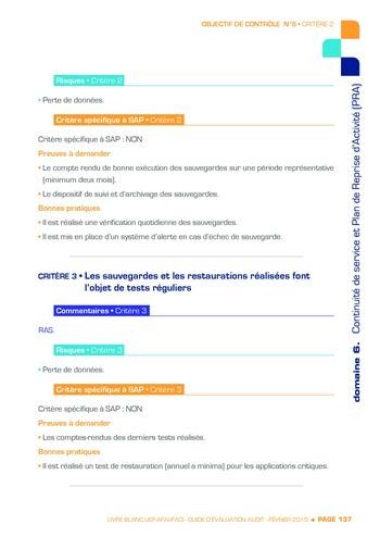 Guide d'évaluation d'un système SAP pour l'audit interne / AFAI, IFACI, USF page 138