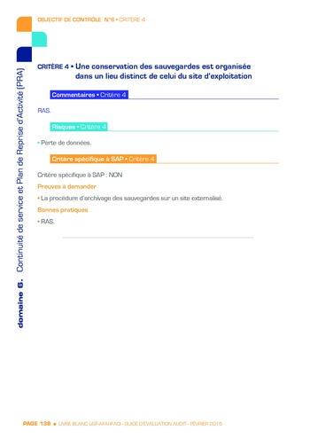 Guide d'évaluation d'un système SAP pour l'audit interne / AFAI, IFACI, USF page 139