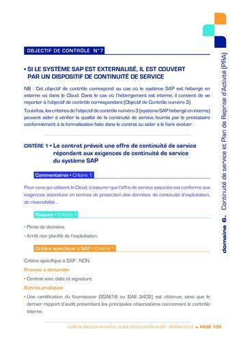 Guide d'évaluation d'un système SAP pour l'audit interne / AFAI, IFACI, USF page 140