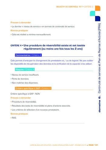 Guide d'évaluation d'un système SAP pour l'audit interne / AFAI, IFACI, USF page 142