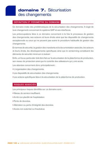 Guide d'évaluation d'un système SAP pour l'audit interne / AFAI, IFACI, USF page 143