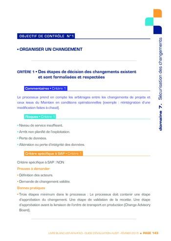 Guide d'évaluation d'un système SAP pour l'audit interne / AFAI, IFACI, USF page 144